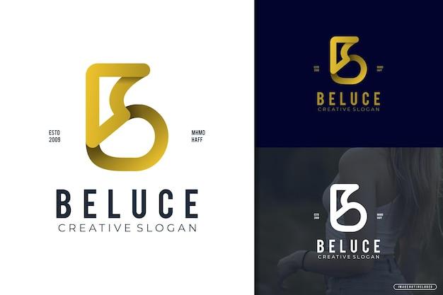 Style moderne dégradé de logo élégant lettre b