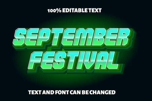 Style moderne d'effet de texte modifiable d'automne
