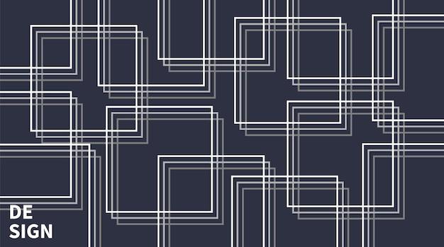 Style moderne de fond de ligne abstraite