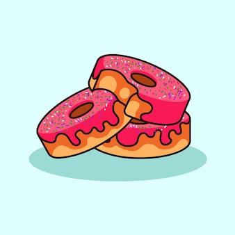 Style moderne d'icône d'illustration de beignets