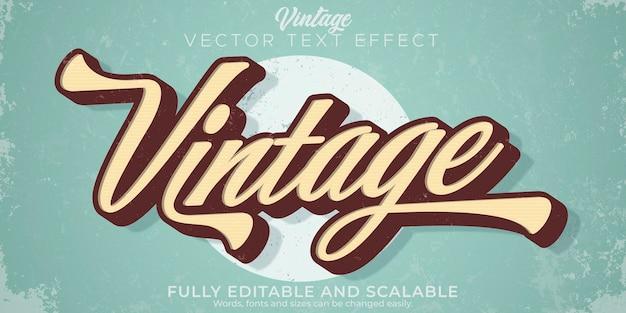 Style modifiable d'effet de texte vintage rétro