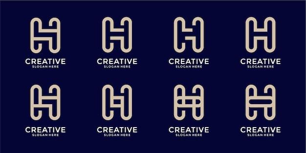 Style de monogramme de collection logo lettre r