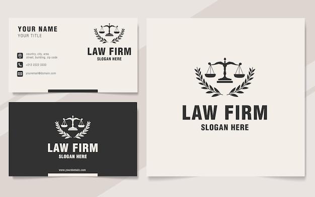 Style de monogramme de modèle de logo de cabinet juridique