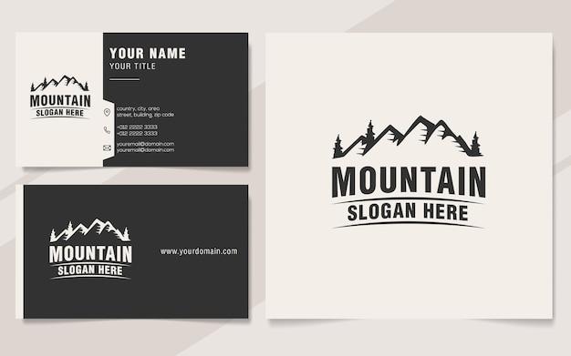Style de monogramme de modèle de logo de montagne vintage