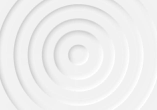 Style néomorphisme. effet 3d. cercles gris répétitifs volumétriques les uns dans les autres. ombres.