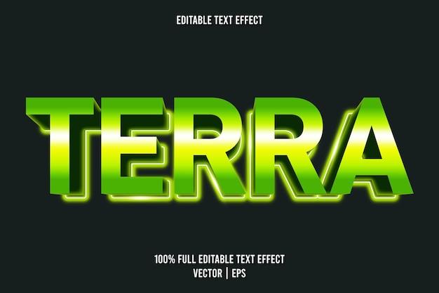 Style néon à effet de texte modifiable terra