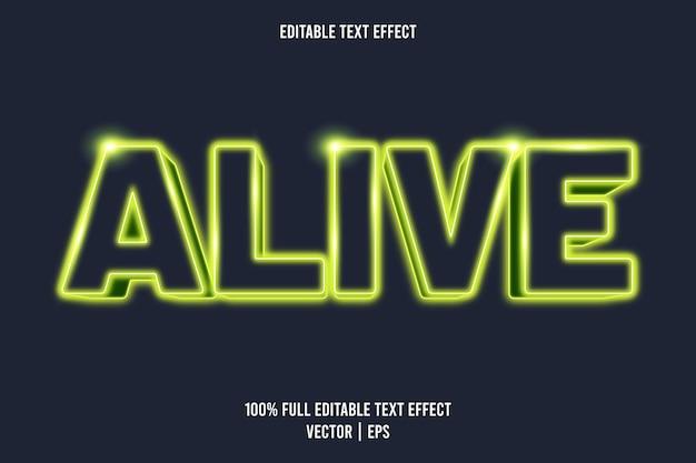 Style néon d'effet de texte modifiable vivant