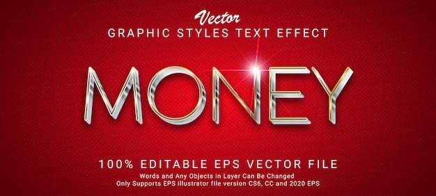 Style d'or d'effet de texte d'argent