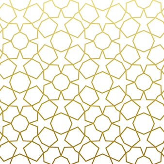 Style d'or de modèle arabe. fond décoratif géométrique oriental traditionnel arabe.