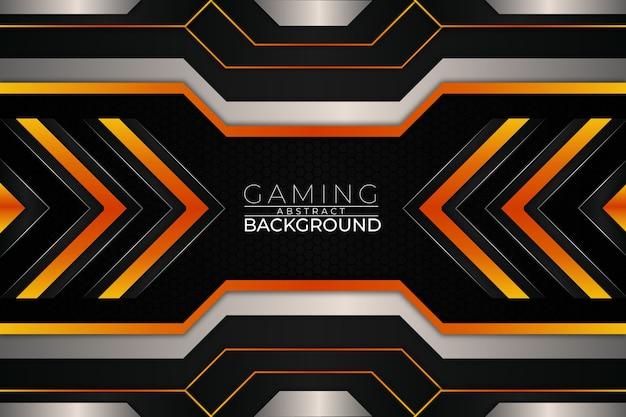 Style orange de fond de jeu futuriste