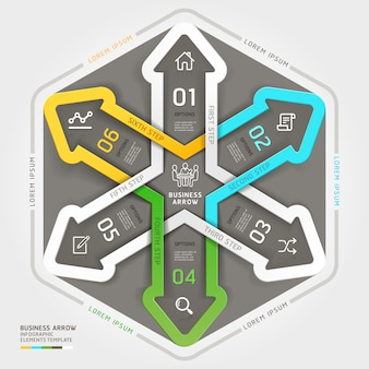 Style origami de cercle moderne entreprise flèche.