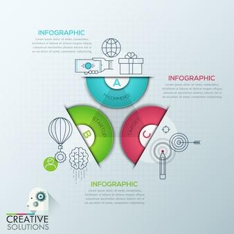 Style d'origami de polygone d'affaires infographie