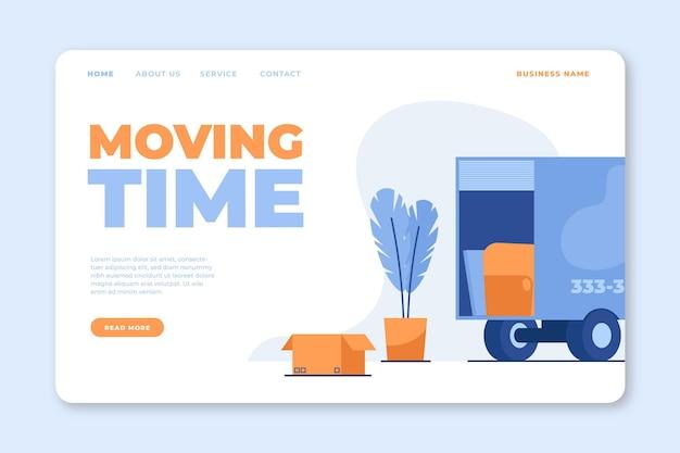 Style de page de destination des services de déménagement de maison