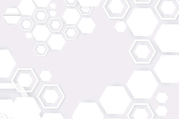 Style de papier 3d abstrait blanc