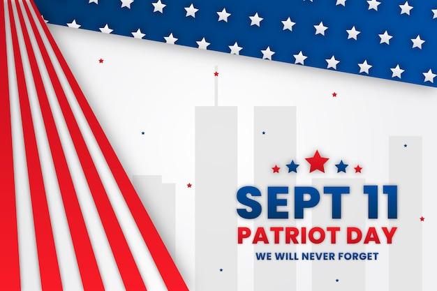 Style de papier 9.11 fond de jour patriote