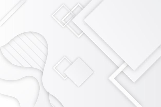 Style de papier de fond monochrome blanc
