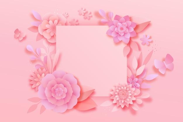 Style de papier de fond rose printemps