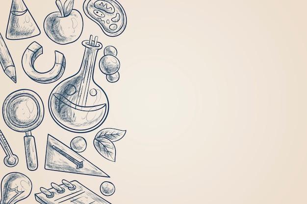 Style de papier peint éducation scientifique vintage
