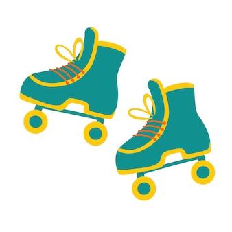 Style patin à roulettes icône rétro patins à roulettes style hipster moderne vintage a
