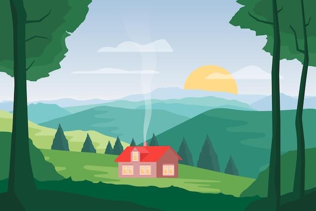 Style de paysage de campagne