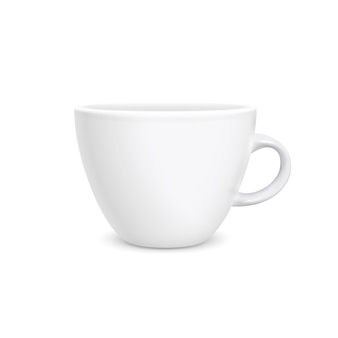 Style photoréaliste de tasse blanche de café isolé
