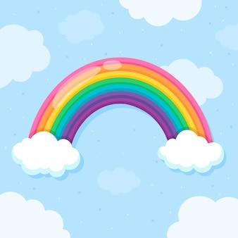 Style plat arc-en-ciel coloré
