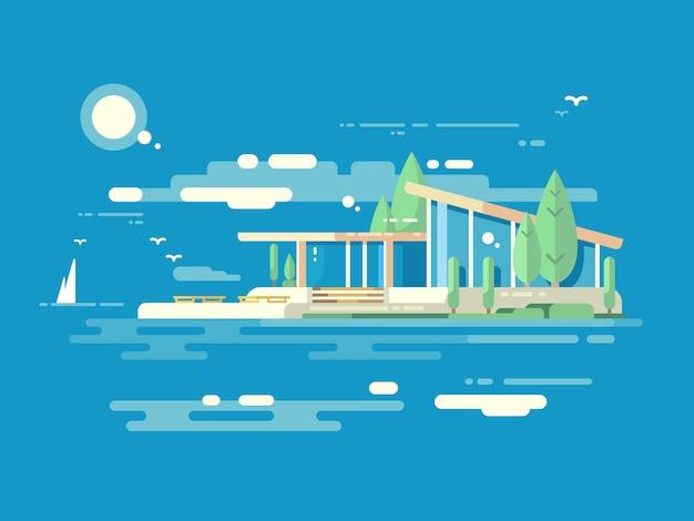 Style plat de conception de maison moderne