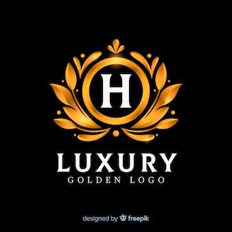 Style plat élégant logo doré