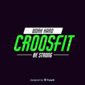 Style plat emblème de motivation crossfit
