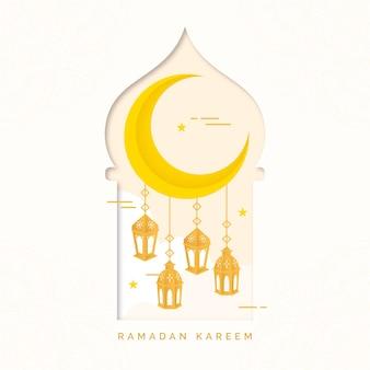 Style plat de l'événement du ramadan