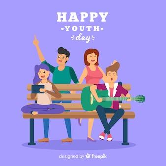 Style plat de la fête de la jeunesse