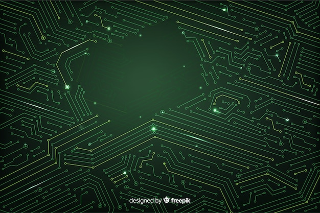 Style plat de fond de circuit imprimé
