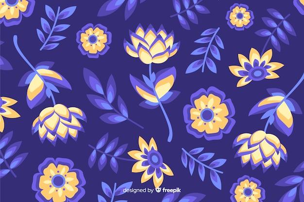 Style plat de fond décoratif de fleurs colorées