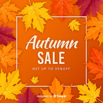 Style plat de fond de vente automne