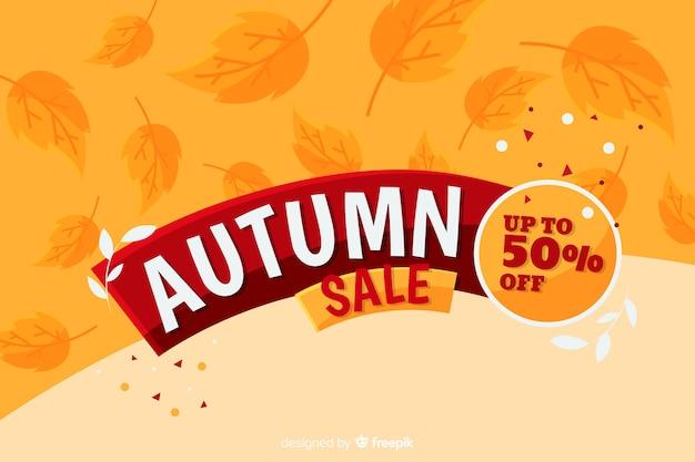 Style plat de fond de vente d'automne
