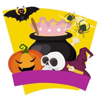 Style plat potion magique halloween