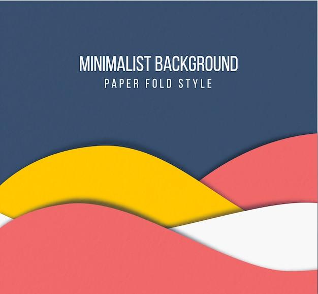 Style de pli de papier de fond minimaliste