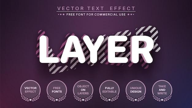 Style de police d'effet de texte d'édition de calque 3d