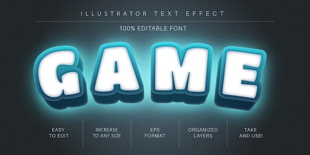 Style de police d'effet de texte de jeu 3d