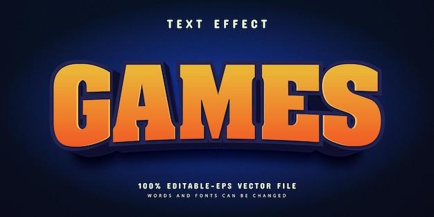 Style de police d'effet de texte modifiable de dessin animé de jeux
