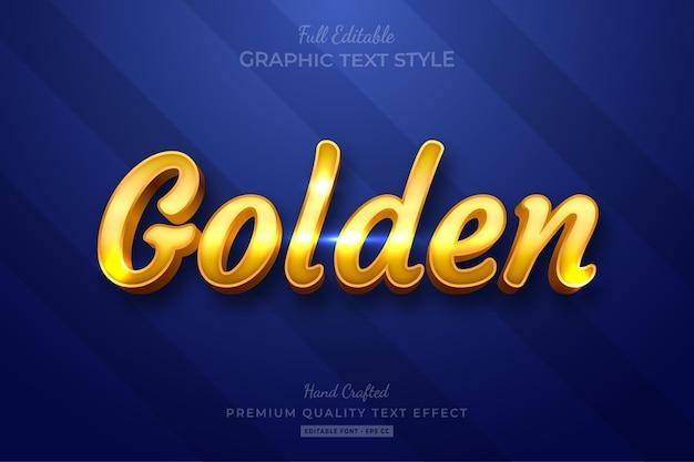 Style de police d'effet de texte modifiable golden shine