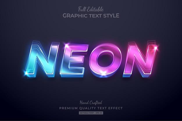 Style de police d'effet de texte modifiable néon dégradé