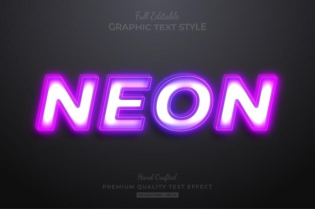 Style de police d'effet de texte modifiable violet néon