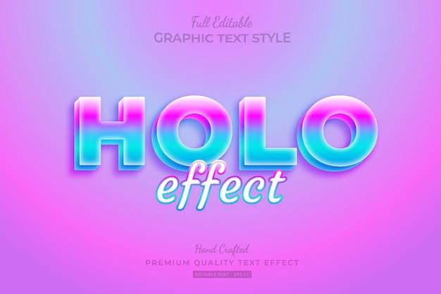 Style de police d'effet de texte premium modifiable holographique