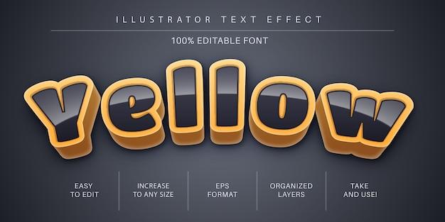 Style de police d'effet de texte de style sombre 3d