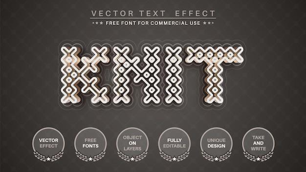 Style de police d'effet de texte en tricot