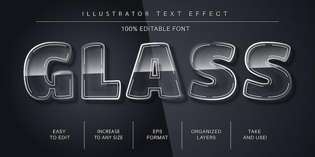 Style de police d'effet de texte en verre