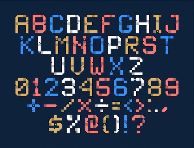 Style de police numérique pixel art