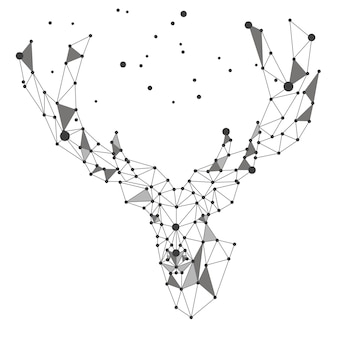 Style polygonal de tête de cerf