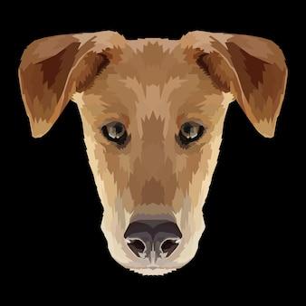 Style pop art de chien tête d'impression animale